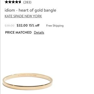 "Kate Spade ""Heart of Gold"" Idiom bangle"